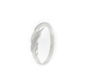 Prsten z bílého zlata zdobený bílým zirkonem, velikost 54