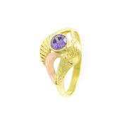 Zlatý prsten s ametystem, vel.54