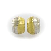 Náušnice kombinace žlutého a bílého zlata