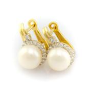 Zlaté perlové náušnice