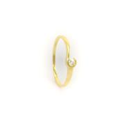 Zlatý prsten se zirkonem vel.62
