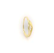 Zlatý prsten s bílými kameny vel. 58