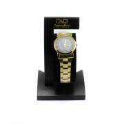 Zlaté univerzální hodinky s tmavým ciferníkem Q315J005Y