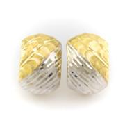 Bílo - žluté zlaté náušnice