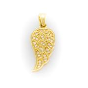 Zlatý přívěsek andělské křídlo se zirkony 4115 PL
