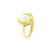 Zlatý prsten s opálem, vel. 50