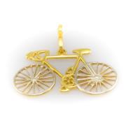 Zlatý přívěsek bicykl