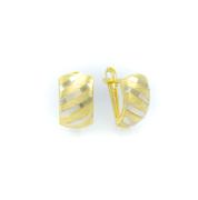 Zlaté náušnice v kombinaci žlutého a bílého zlata
