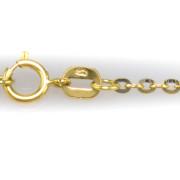 Zlatý dámský řetízek zdobený bílým zlatem 45 cm