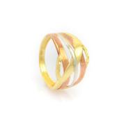 Zlatý široký prsten vel.58
