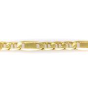 Zlatý široký řetízek 6281 PL