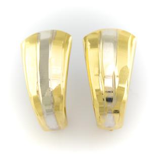 Zlaté náušnice - kombinace bílého a žlutého zlata