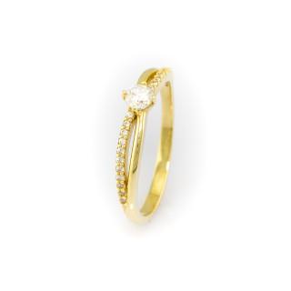 Zlatý prsten se zirkony 4164