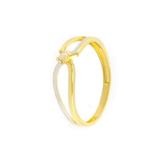 Zlatý prsten velikost 52