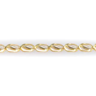Náramek ze žlutého zlata zdobený bílými lístečky 5930 PL