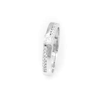 Luxusní prsten z bílého zlata 4011 PL