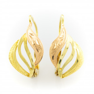 Zlaté barevné náušnice