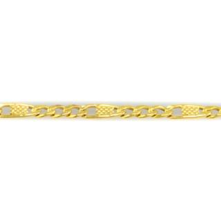 Zlatý náramek v kombinaci vzorů Figaro a Valentino