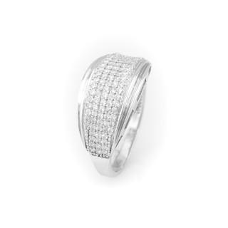 Zářivý prsten z bílého zlata 4400 AD