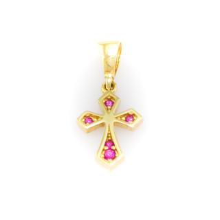 Křížek s barevnými kameny