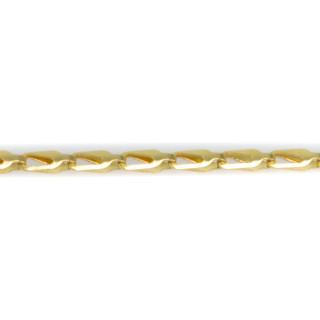 Zlatý náramek destičky s výřezem