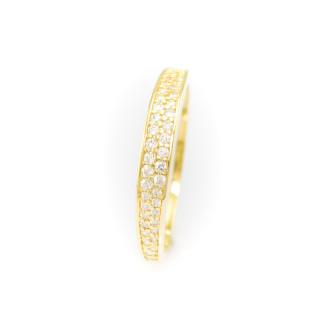 Zlatý prsten se zirkony 4163