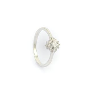 Zlatý prstem z bílého zlata v. 54
