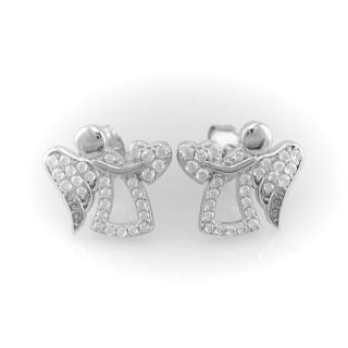 Stříbrné náušnice andílci se zirkony
