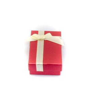 Červená krabička s mašlí 016K