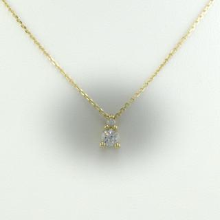 Zlatý náhrdelník s přívěskem