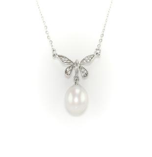 Stříbrný náhrdelník s pravou perlou
