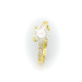 Zlatý prsten se zirkony 3251 L