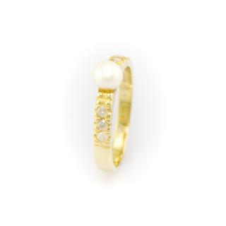 Zlatý prsten s perlou 3805 KK