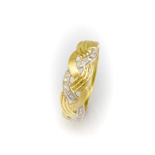 Zlatý prsten se zirkony 4158