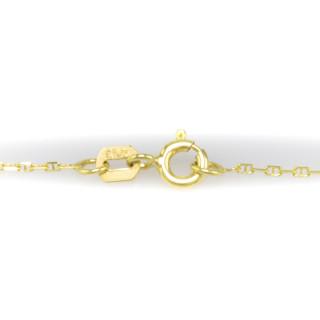Zlatý řetízek žebříček, 45 cm