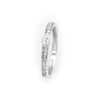 Zlatý prstýnek osázený zirkony 3868 D