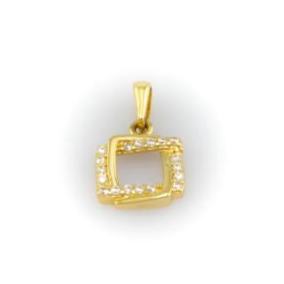 Zlatý přívěsek propletený čtverec