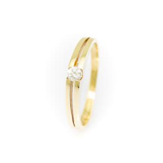 Zlatý prsten se zirkonem 3554 C