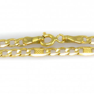 Zlatý náramek - kombinace vzorů Figaro a Valentino