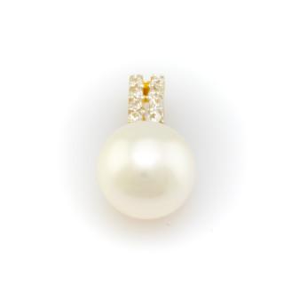 Zlatý přívěsek s perlou