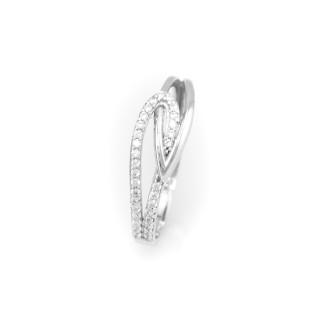 Prsten bílé zlato 4133 PL
