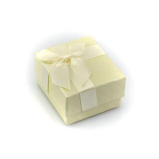 Krémová krabička s mašličkou