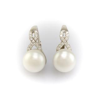 Stříbrné náušnice s pravou perlou