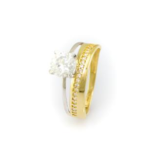 Kombinovaný zlatý prsten 3848 PL