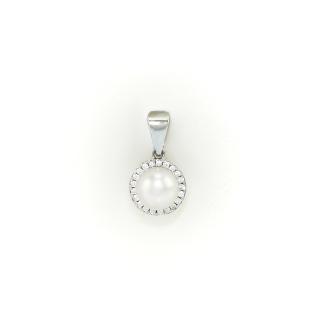 Stříbrný přívěsek s pravou perlou