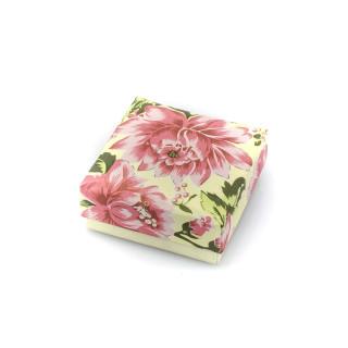 Krémová krabička s květinovým motivem 008K