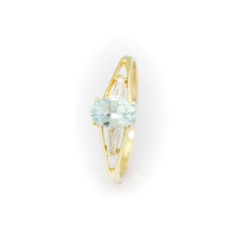 Zlatý prstýnek s kameny 4146 PL
