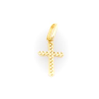 Přívěsek ze žlutého zlata - křížek