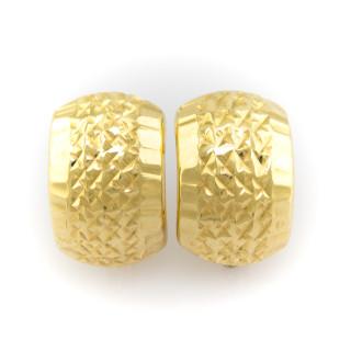 Zlaté náušnice s rytinou