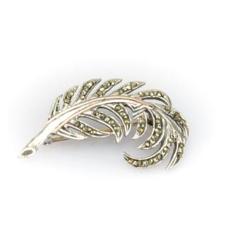 Stříbrná brož - Peříčko CH A0096 E
